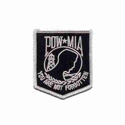 POW-MIA Small Iron On Military Patch