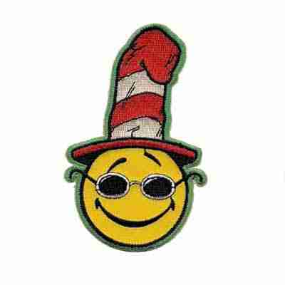 Happy Face Seuss Iron on Patch