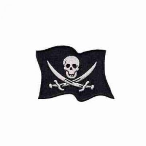 Skull Pirate Flag with Skull and swords Iron on Patch