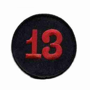 """13"" Large Back Patch Iron or Sew On - 7 1/2 inch Round"