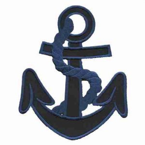Anchor Navy Blue Iron On Patch Applique