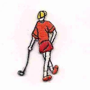 Golf - Tiny Boy Golfer in Orange Iron on Patch
