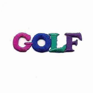 "Golf - ""Golf"" in block letters Iron on Patch"