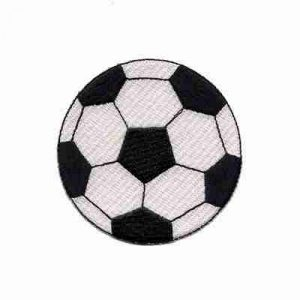 "Soccer - Large Soccerball 3"" Iron On Sports Patch Applique"