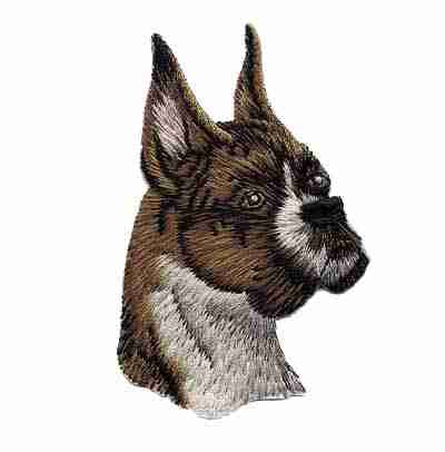 Dogs - Boxer Iron On Patch Applique