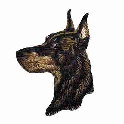 Dogs - Doberman Pincher Iron On Patch