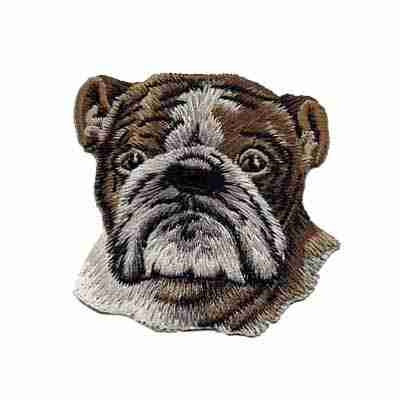 "Dogs - English Bulldog 2-1/4"" Iron On Patch"