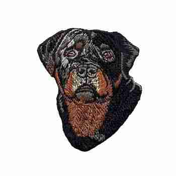 Dogs - Rottweiler Iron On Patch