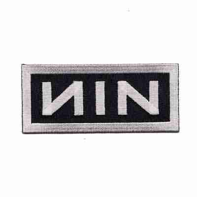 """Nine Inch Nails """"NIN"""" Iron on Patch Applique"""