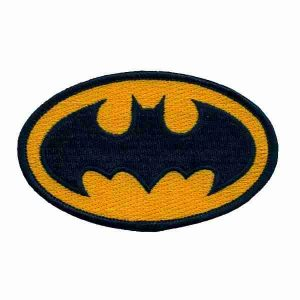 Batman Logo Patch Applique Iron on Patch