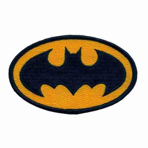 Batman Logo Patch Applique Iron on Patch