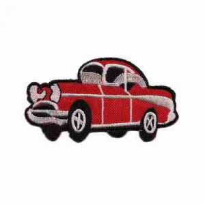 Cars - Red 57 Chevy *Blemished* Iron On Patch - Please read full