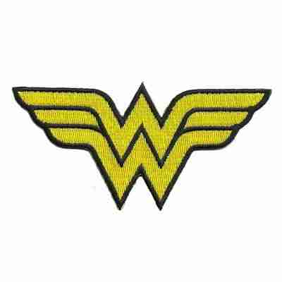 "Wonder Woman Logo 2""H Iron on Patch Applique - LIMITED"