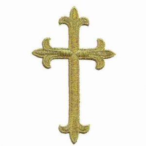 Metallic Gold Cross Patch