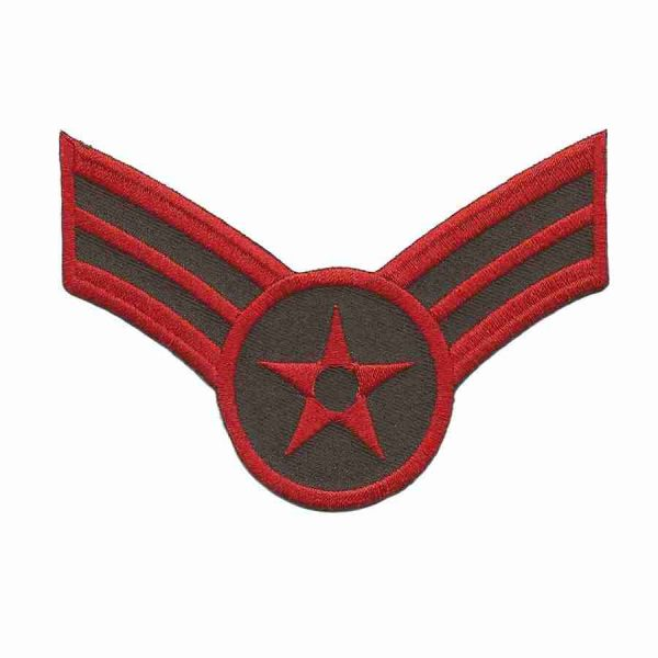 Stripes and Star Military Iron or Sew on Patch