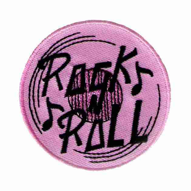 """50/'S /""""ROCK/"""" TEXT IRON ON APPLIQUE PATCH"""