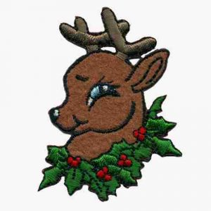 Christmas Reindeer Holiday Iron on Patch Applique