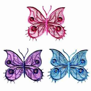 Sparkling Butterfly Patches