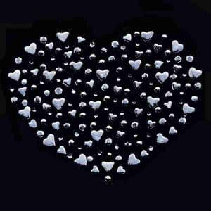 Hearts of Hearts Rhinestone Hotfix Applique