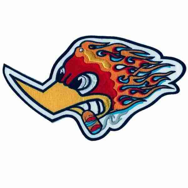Woody Woodpecker Racing Logo Patch Large Size
