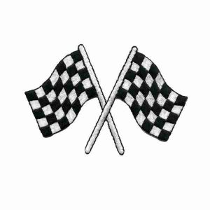 Checkered Flag Racing Patch Iron or sew on