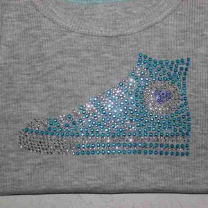 Girls Rhinestone Tank Top Close up
