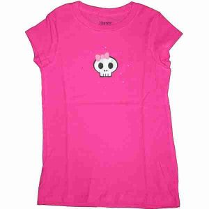Skull Rhinestone Girls Shirt