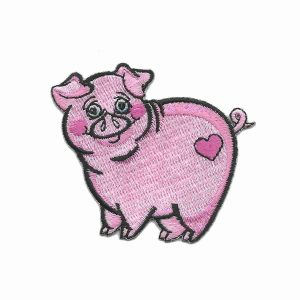 Pink Piglet Iron on Patch