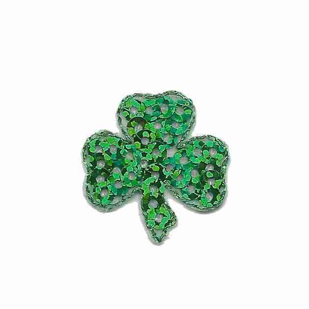 Small 4-Leaf Clover//St Patrick/'s Day Shamrock Iron on Applique//Embroidered Patch