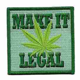 Make Pot Legal Iron on Patch Legalize Marijuana