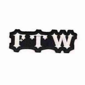 FTW Patch Iron or Sew on patch