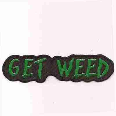 Get Weed Iron on Marijuana Patch