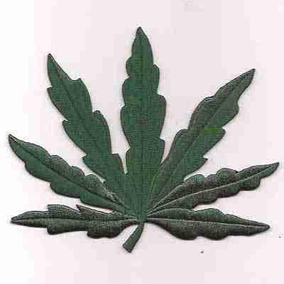 Medium Pot Leaf Iron on patch