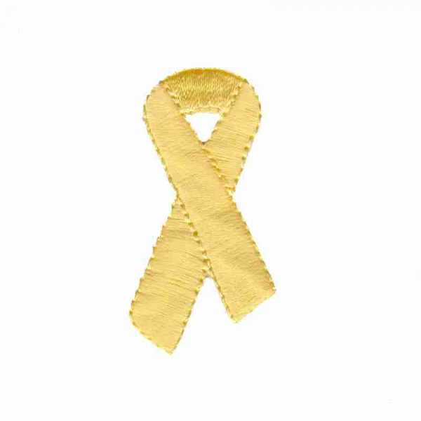 Yellow Awareness Ribbon Patch Applique