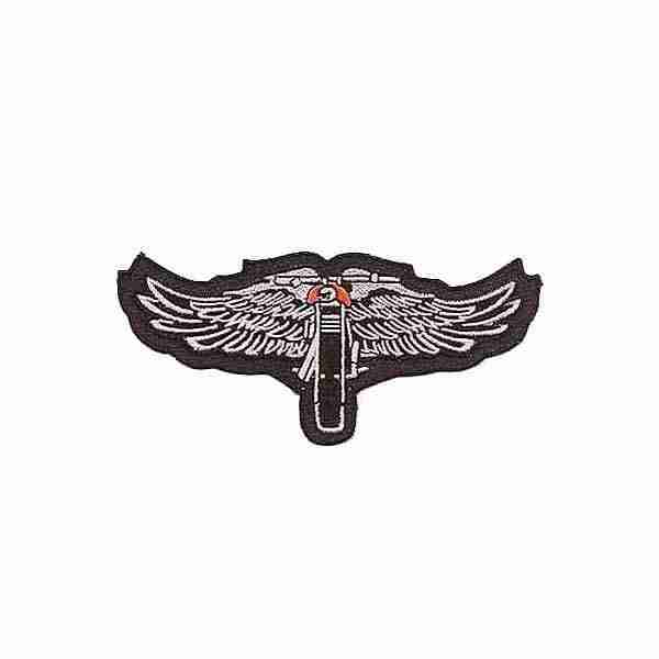 Winged Motorcycle Patch Biker Patches