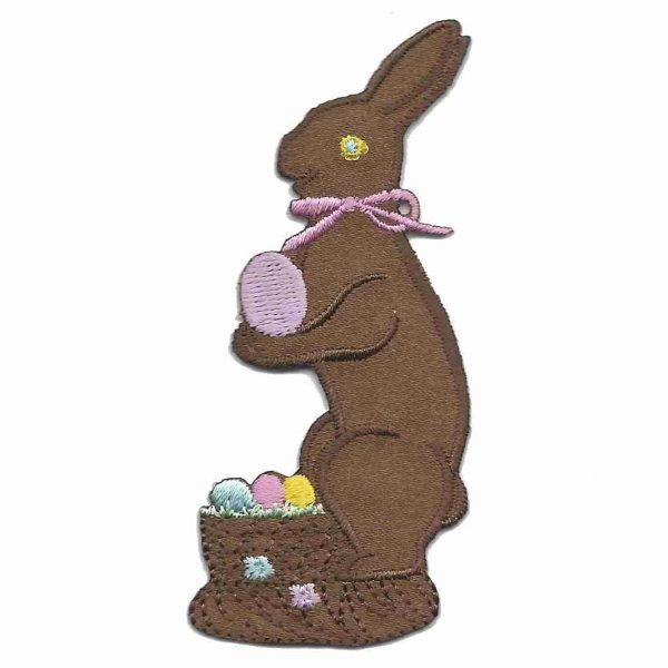 Standing Chocolate Eater Bunny Patch