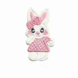 Baby Girl Bunny Patch Iron on Applique