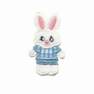 Baby Boy Bunny Patch Iron on Applique