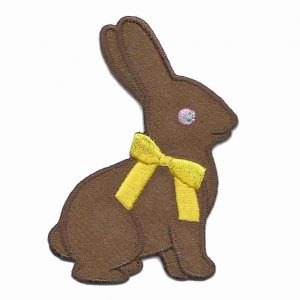 Chocolate sitting easter bunny patch