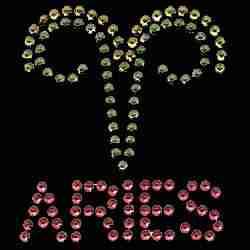 Iron on Aries Zodiac Sign
