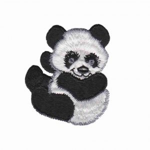 Panda Bear Baby Iron On Applique