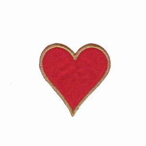 Card Suit Symbols - Heart Iron On Patch Applique