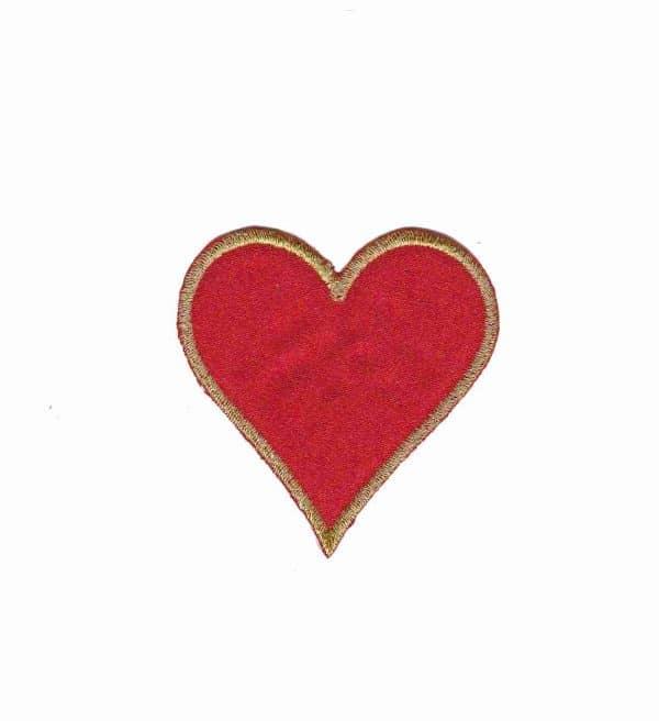 Card Suit Symbols - Heart Iron On Patch Applique