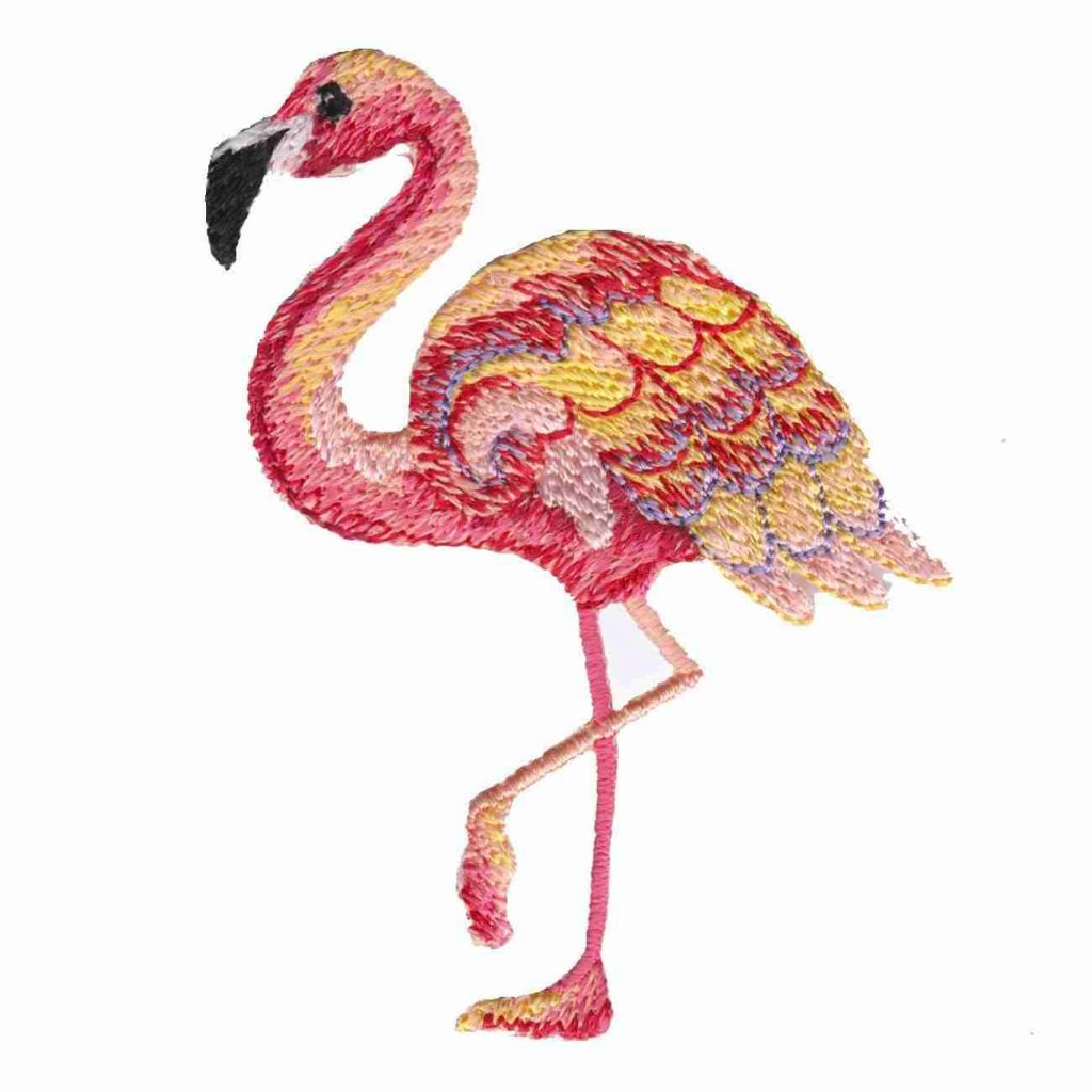 Colourful Flamingo In Water Long Vest Top