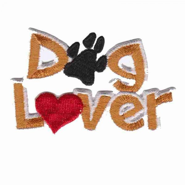 Dog Lover Embroidered Patch Applique