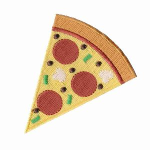 Pizza Iron on Embroidered Patch