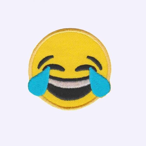 Tears of Joy Emoji Patch Sticker