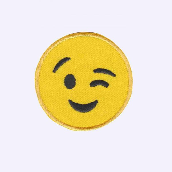 Winking Emoji Patch Sticker
