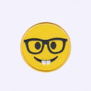 Nerd Emoji Patch Sticker