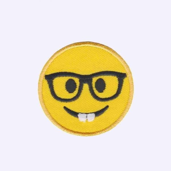 Nerd Emoji Patch Sticker